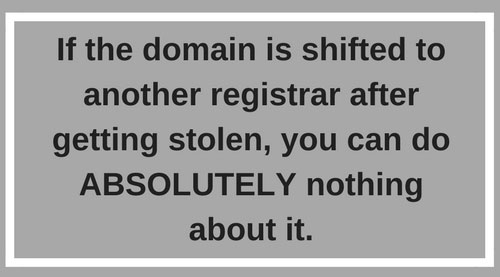 Domain Name is Stolen