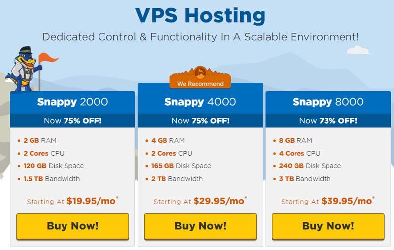 HostGator VPS Hosting Plans