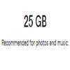 25 GB Recommended For Photos And Music